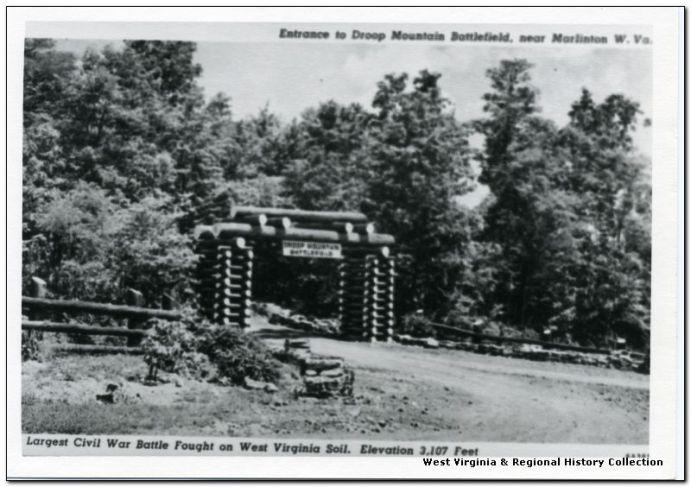 Entrance to Droop Mountain Battlefield near Marlinton, W. Va