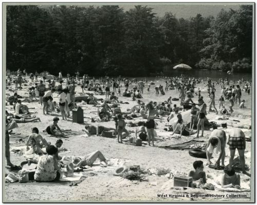 Sunbathers and Swimmers at Cacapon